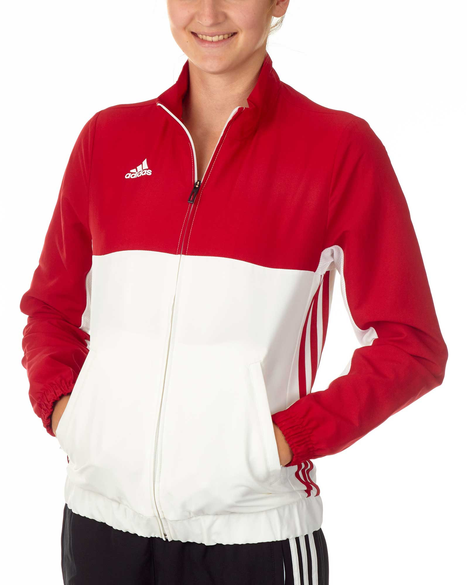 adidas T16 Team Jacket Damen power rotweiß, AJ5328