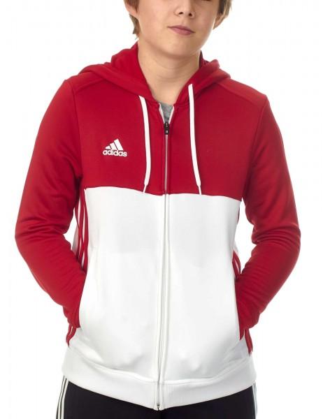 adidas T16 Team Hoodie Kids power rot /weiß AJ5401
