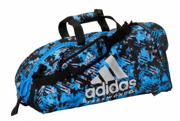 "adidas 2in1 Bag ""Taekwondo"" blue camo/silver Nylon, adiACC058T"