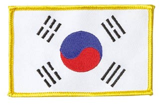 Patch Korea gelber Rand