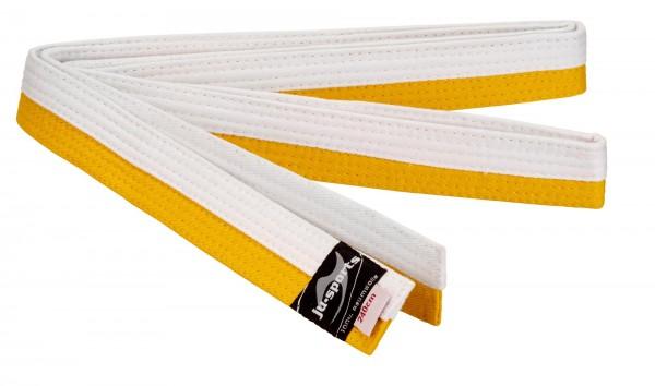 Budogürtel weiß/gelb (halb/halb)