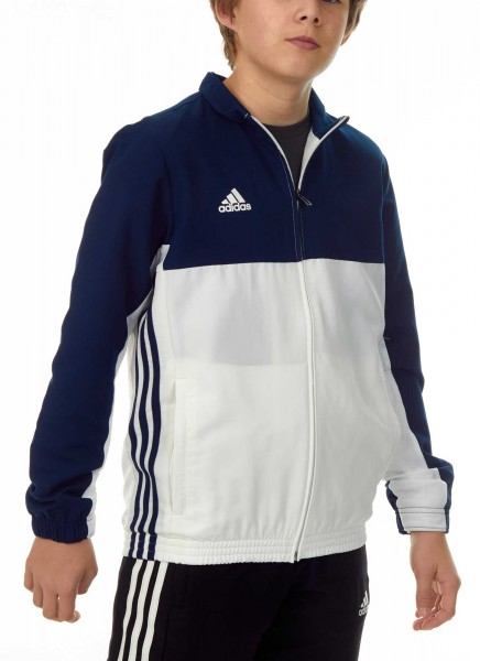 adidas T16 Team Jacket Kids navy blau/weiß, AJ5323