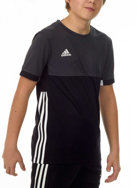 adidas T16 Clima Cool Tee Jungen schwarz/grau AJ5432