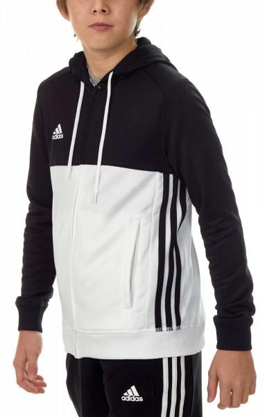 adidas T16 Team Hoodie Kids schwarz/weiß AJ5399