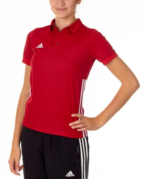 adidas T16 Team Polo Kids power rot /weiß AJ5247
