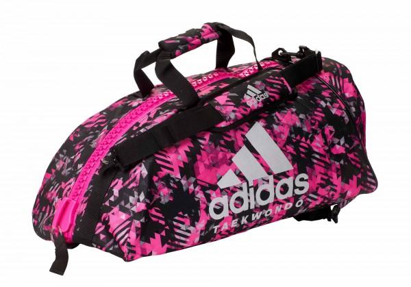 "adidas 2in1 Bag ""Taekwondo"" pink camo/silver Nylon, adiACC058T"