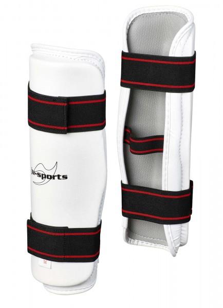 Ju-Sports Schienbeinschutz PU weiß