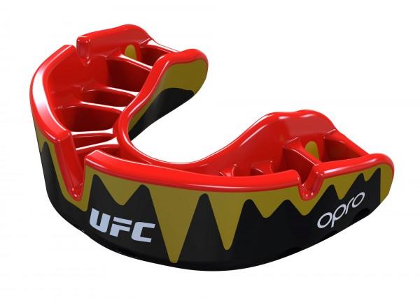 "OPRO ""UFC"" Zahnschutz Platinum Senior Fangz black/gold"