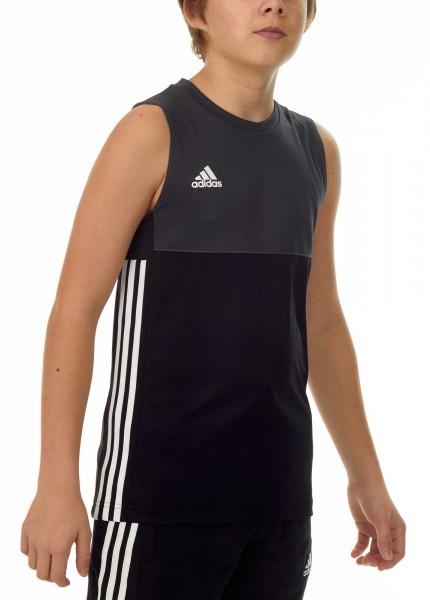 adidas T16 Clima Cool Sleeveless Tee Jungen schwarz/grau AJ5232