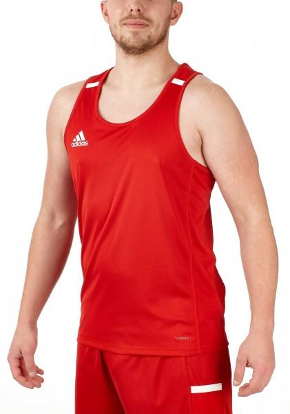 adidas T19 Singlet Shirt Männer rot/weiß, DX7232