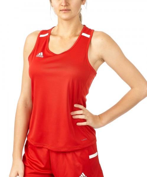 adidas T19 Singlet Shirt Damen rot/weiß, DX7237