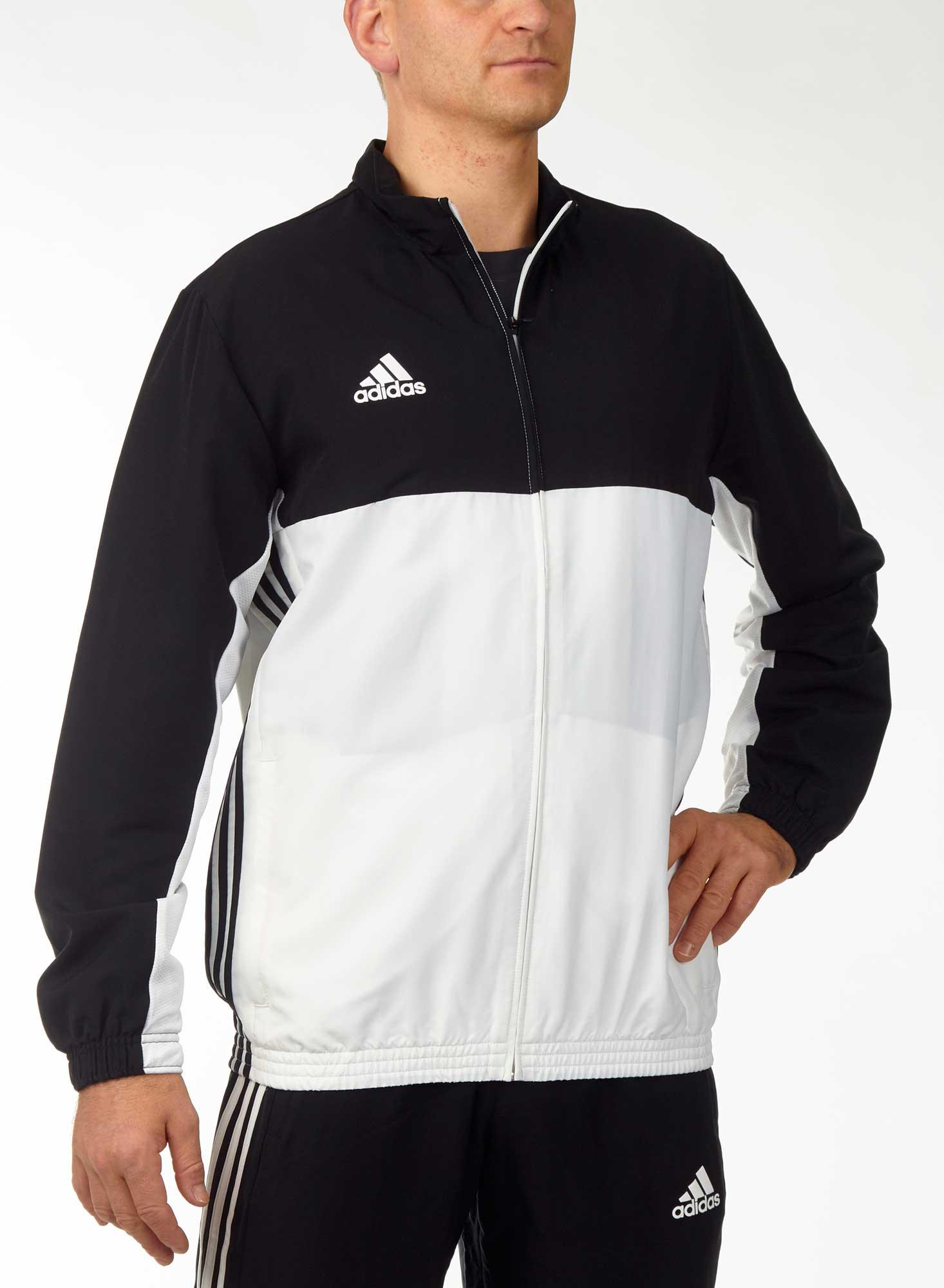 71163a0ebe9f7b Vorschau  adidas T16 Team Jacket Männer schwarz weiß