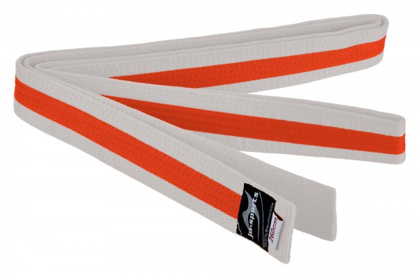 Budogürtel weiß/orange/weiß