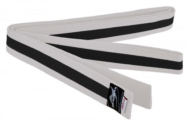 Budogürtel weiß/schwarz/weiß