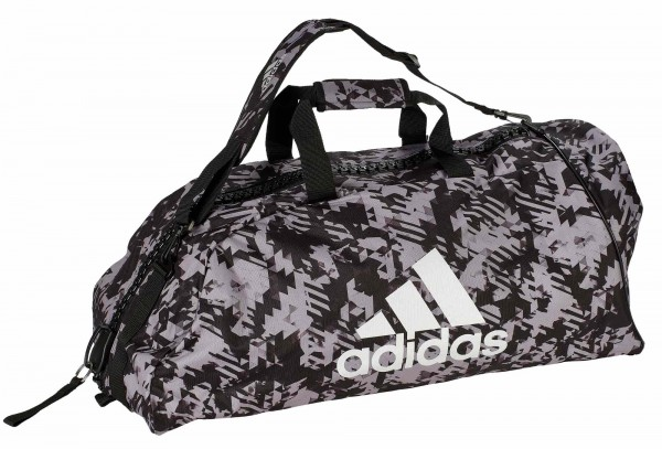 "adidas 2in1 Bag ""martial arts"" black/camo silver Nylon, adiACC058"