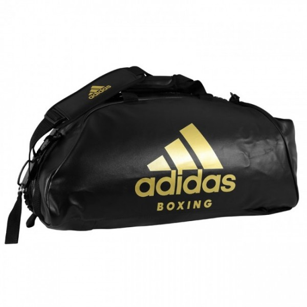 "adidas 2in1 Bag ""Boxing"" black/red PU L, adiACC051B"