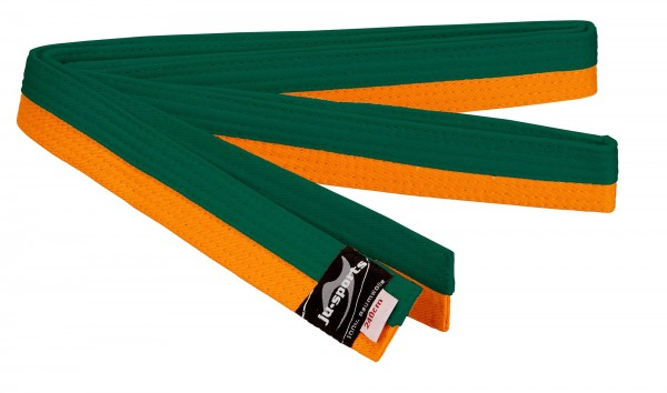Budogürtel orange/grün (halb/halb)