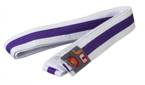 Budogürtel weiß/violett/weiß