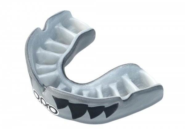 OPRO Zahnschutz PowerFit Aggression- Jaws Silver/White