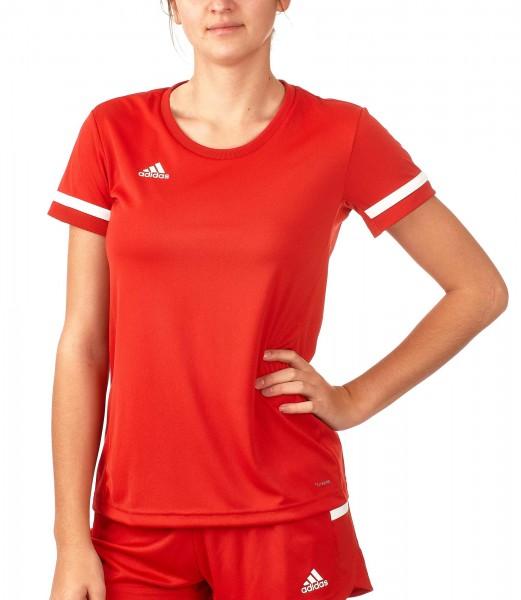 adidas T19 Shortsleeve Jersey Damen rot/weiß, DX7248