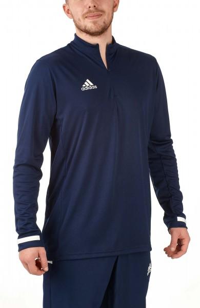 adidas T19 1/4 Longsleeve Männer blau/weiß, DY8845