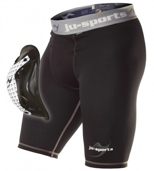 Ju-Sports Compression Base Shorts mit Motion Pro Flexcup, Tiefschutz