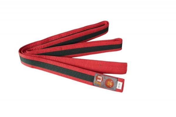 Budogürtel rot/schwarz/rot