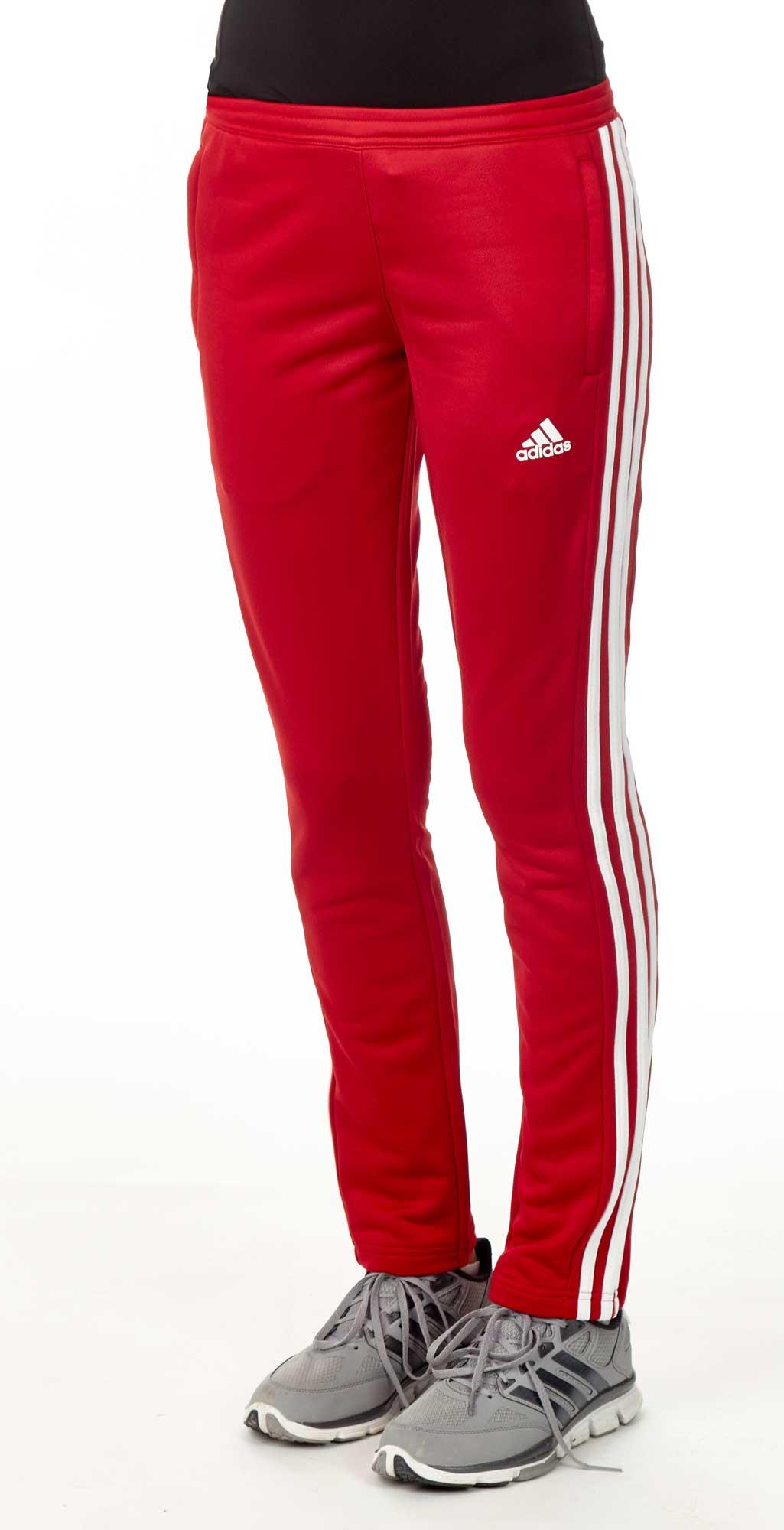 Details zu Adidas Essential 3 Stripes Hose Herren Schwarz Rot Scharlachrot CF5074 Training