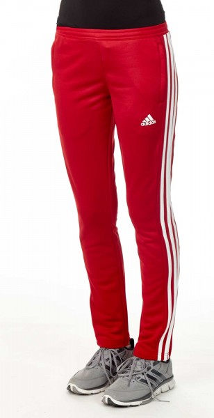 adidas T16 Team Sweat Hose Damen power rot /weiß AJ5392