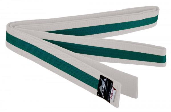 Budogürtel weiß/grün/weiß