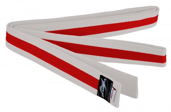 Budogürtel weiß/rot/weiß