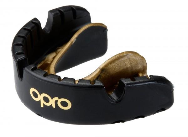 OPRO Zahnschutz Gold Braces Senior black/pearl