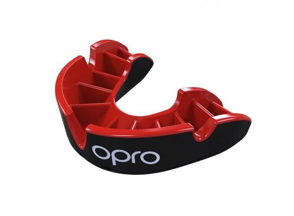 OPRO Zahnschutz Silver - Black/Red