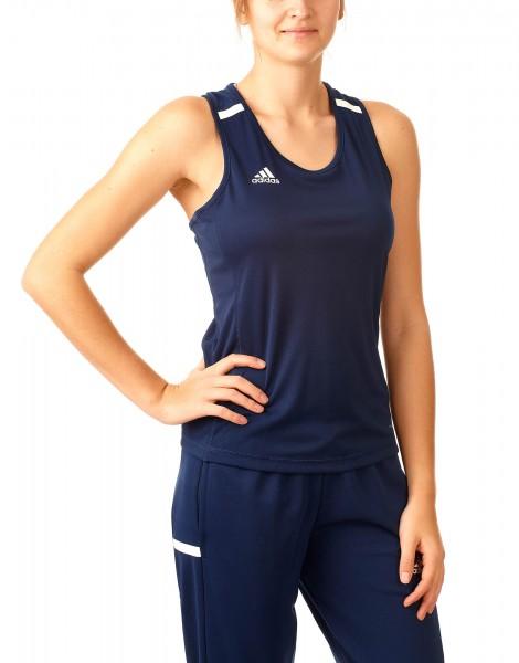 adidas T19 Singlet Shirt Damen blau/weiß, DY8860