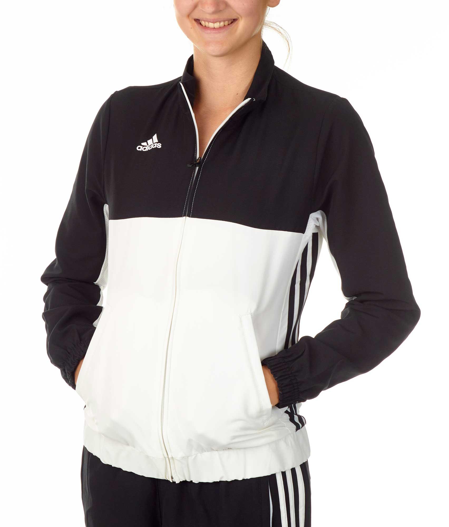 adidas T16 Team Jacket Damen schwarzweiß, AJ5326