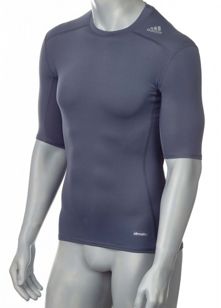 adidas Techfit TF BASE Shortsleeve lead (silber-grau), AJ4969