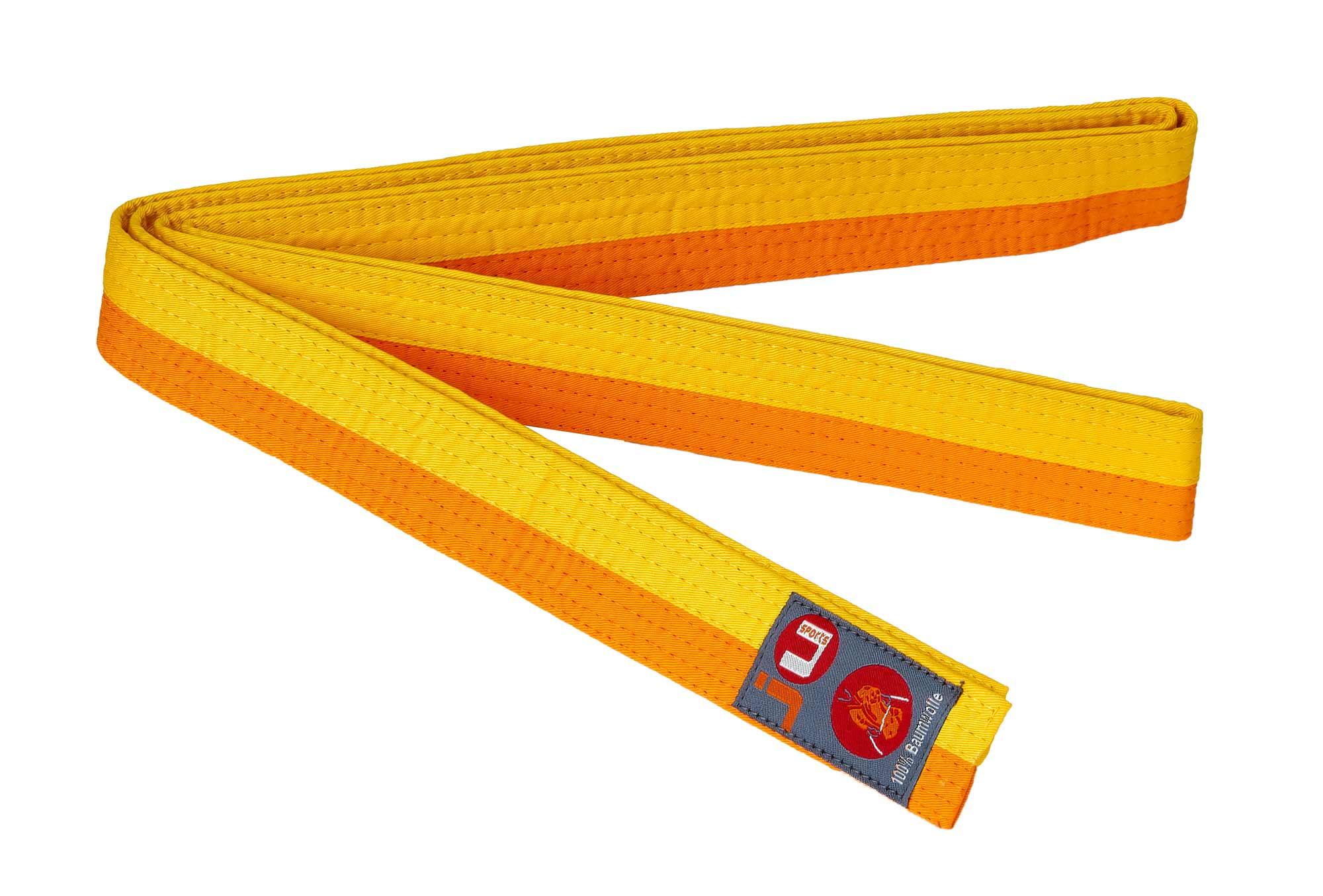 adidas Club Gürtel zweifarbig 240 gelb orange: