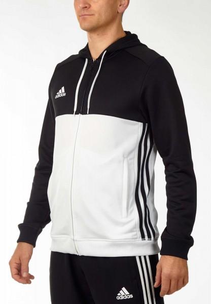 adidas T16 Team Hoodie Männer schwarz/weiß AJ5409