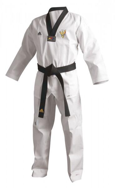adidas Taekwondoanzug, Adichamp III,schwarzes Revers mit DTU Stickerei