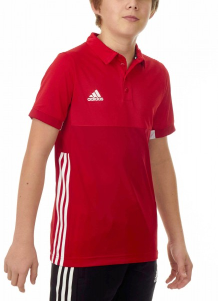 adidas T16 Clima Cool Polo Jungen power rot/scarlet rot AJ5472